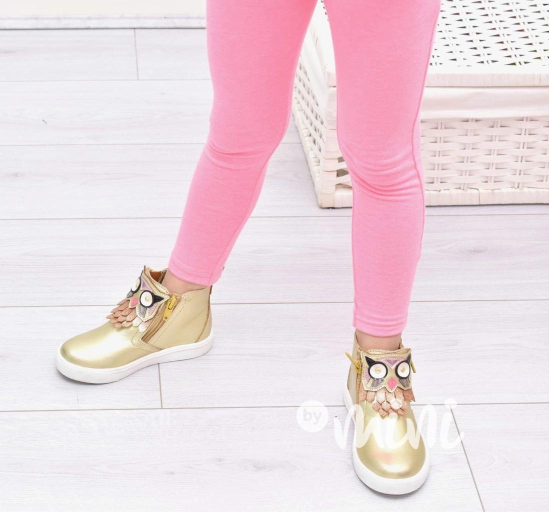 Neon pink basic dívčí legíny - Skladem  6a95fd30e2