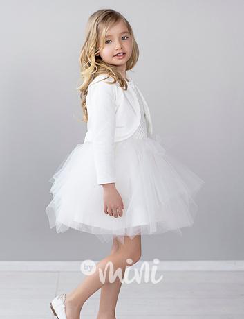 9fb389294d2d Bílé luxury svatební bolerko