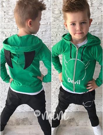 DEVIL chlapecká souprava green. skladem a60988c081