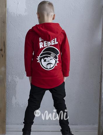 Born rebel prodloužená mikina red. skladem 2e097c8ca1