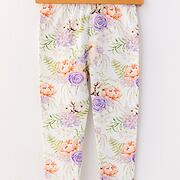Purple rose soft cotton legíny *Lily Grey*