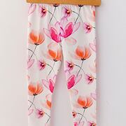 Pink Orange blossom soft cotton legíny *Lily Grey*