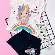 Rainbow summer set - white